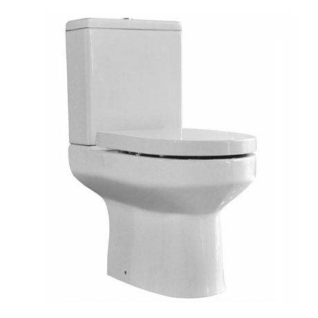 Bijou Close Coupled Modern Toilet + Soft Close Seat