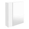 Brooklyn 600mm Gloss White Bathroom Mirror & Fascia Cabinet profile small image view 1