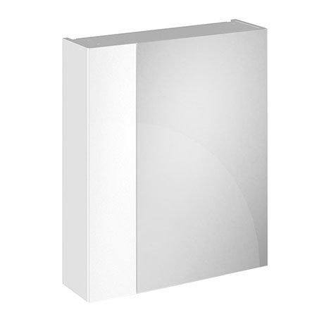 Brooklyn 600mm Gloss White Bathroom Mirror & Fascia Cabinet