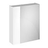 Brooklyn 600mm Gloss White Bathroom Mirror & Fascia Cabinet Small Image