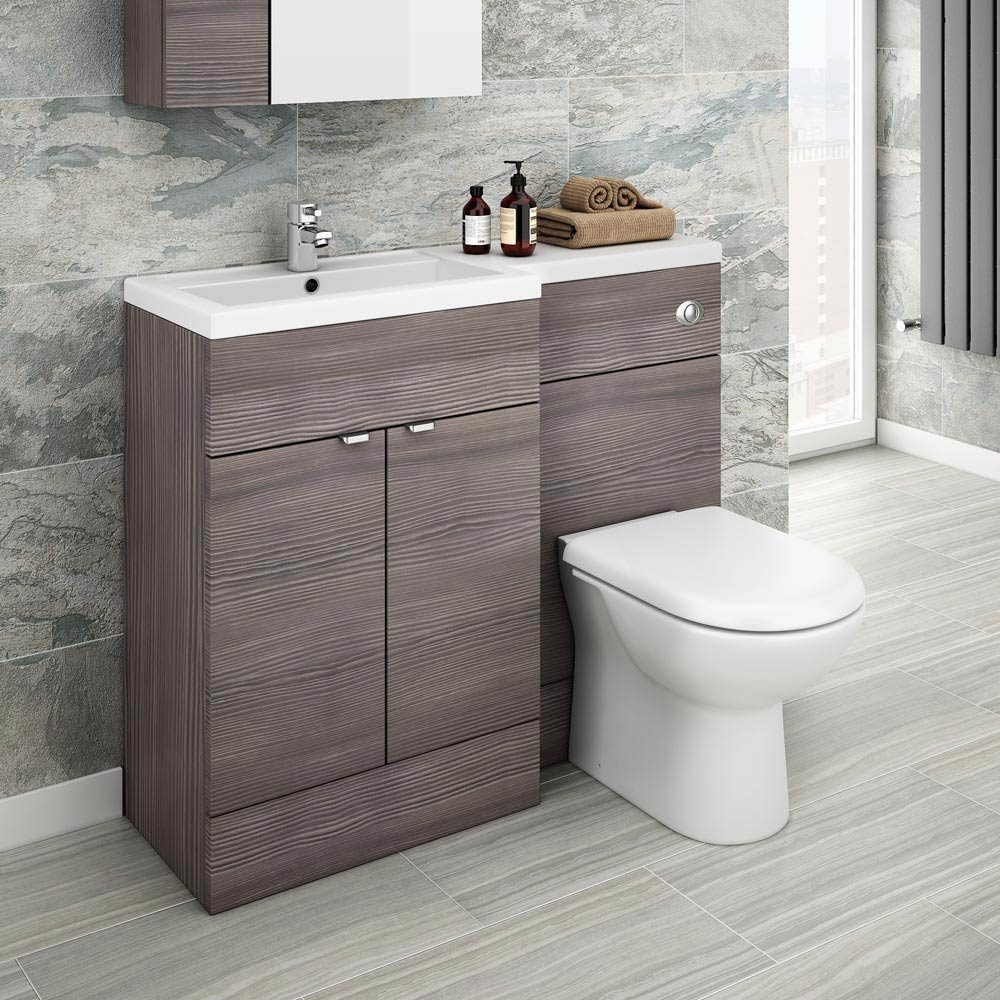 Brooklyn Grey Avola Combination Furniture Pack - 1100mm Wide profile large image view 1