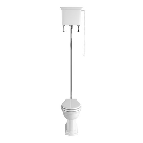 Heritage - Blenheim High-level WC & Chrome Flush Pack