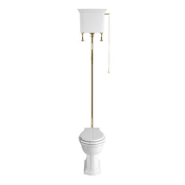 Heritage - Blenheim High-level WC & Gold Flush Pack