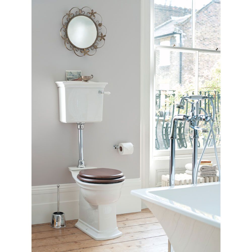 Heritage - Blenheim Low-level WC & Gold Flush Pack - Various Lever Options Feature Large Image