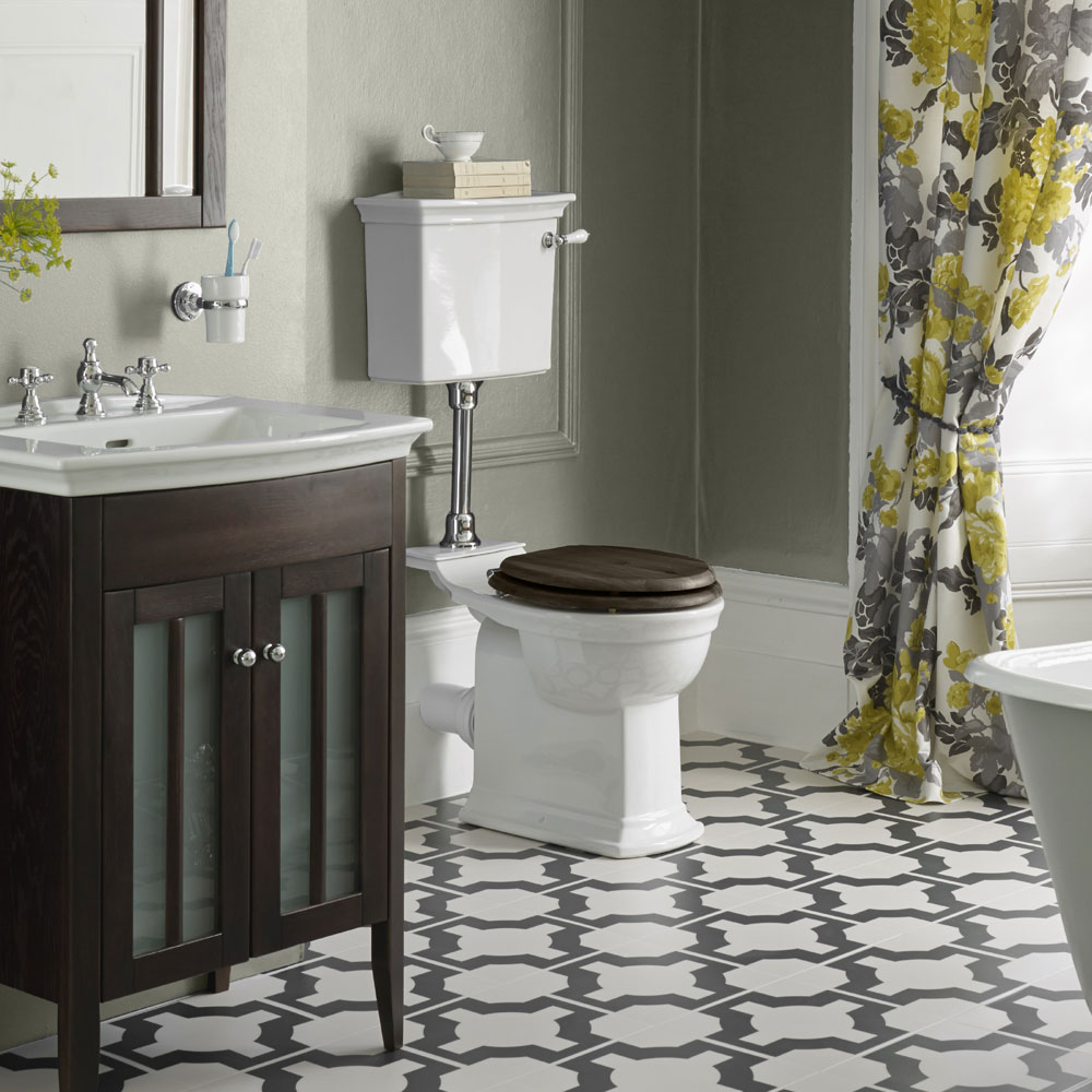 Heritage - Blenheim Low-level WC & Gold Flush Pack - Various Lever Options profile large image view 4