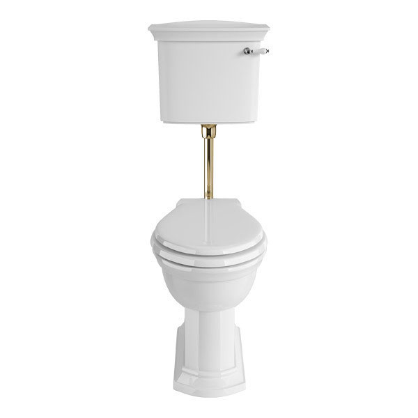 Heritage - Blenheim Low-level WC & Gold Flush Pack - Various Lever Options Large Image