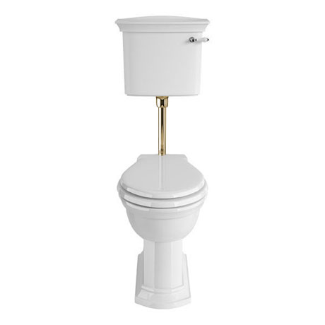 Heritage - Blenheim Low-level WC & Gold Flush Pack - Various Lever Options