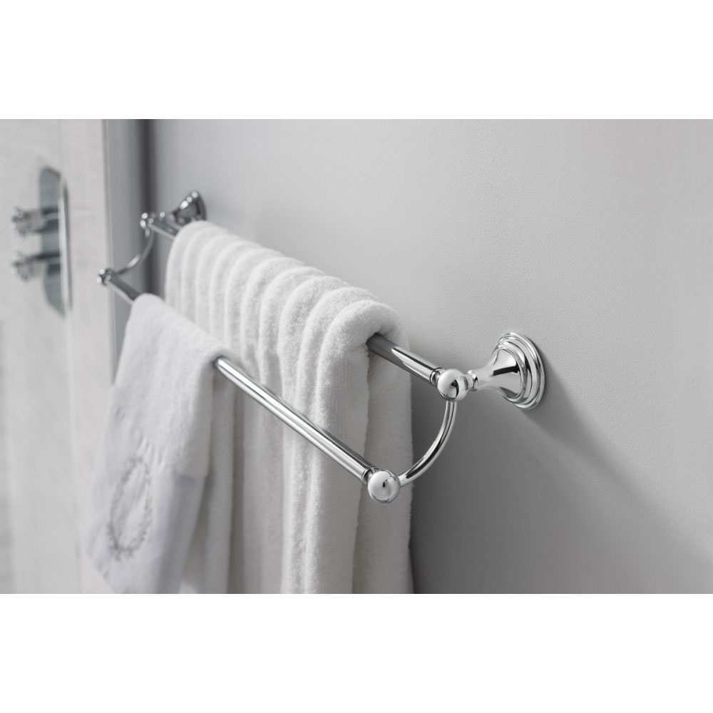 Crosswater - Belgravia 600mm Double Towel Rail - BL028C profile large image view 2