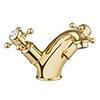 Crosswater Belgravia Unlacquered Brass Crosshead Basin Monobloc Tap - BL110DNQ profile small image view 1