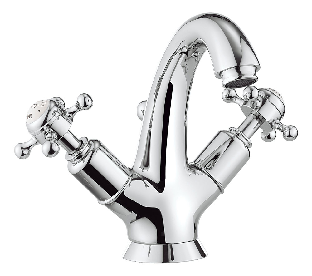 Crosswater - Belgravia Crosshead Highneck Monobloc Basin Mixer Tap with Pop-up Waste - BL112DPC Large Image