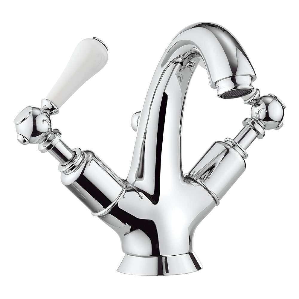 Crosswater - Belgravia Lever Highneck Monobloc Basin Mixer Tap with Pop-up Waste - BL112DPC_LV Large Image