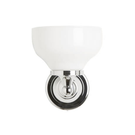 Burlington Round Light with Chrome Base and Cup Frosted Glass Shade - BL11