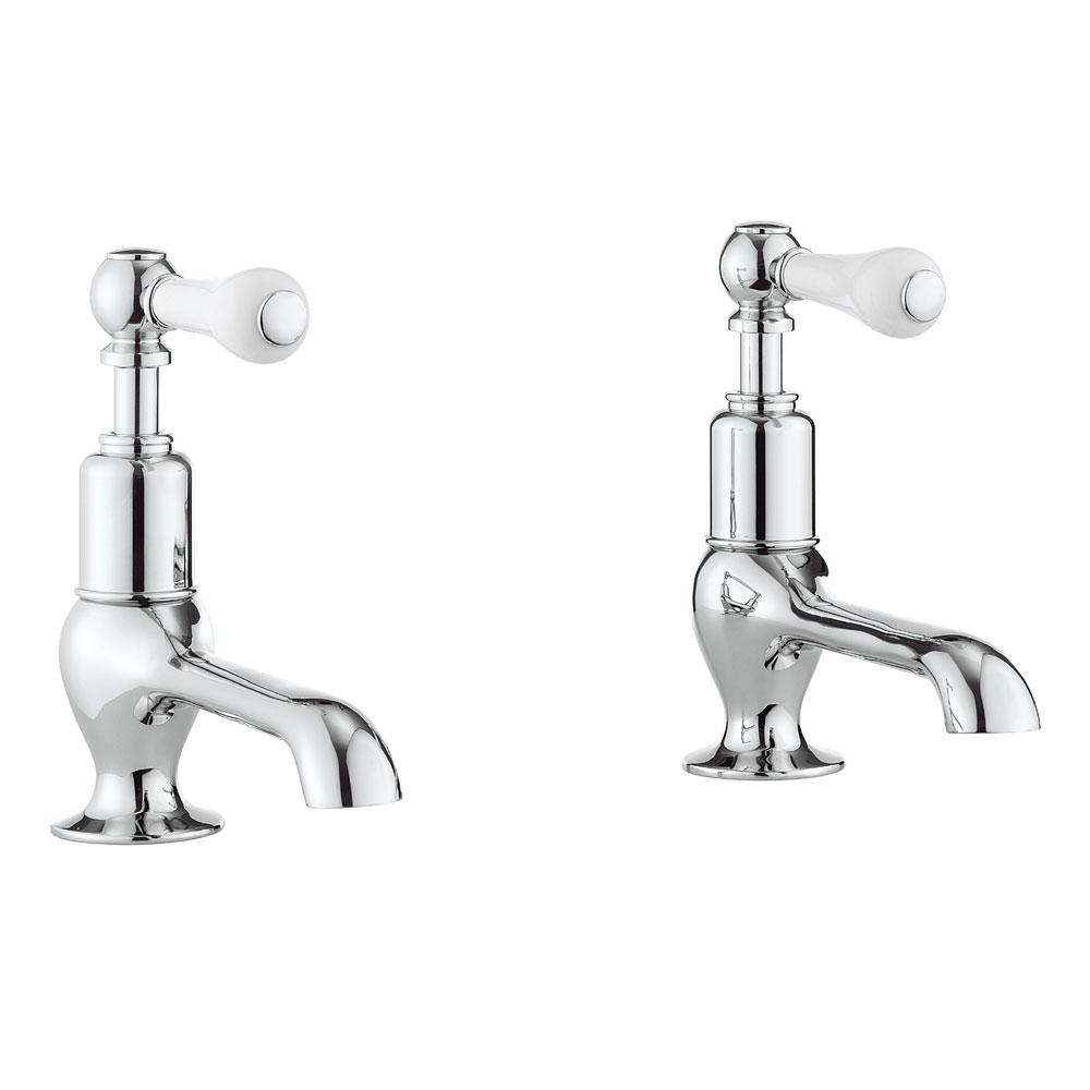 Crosswater - Belgravia Lever Long Nose Basin Taps - BL140DNC_LV Large Image