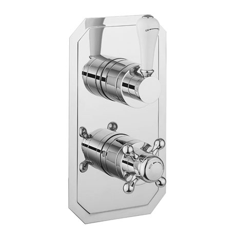 Crosswater Belgravia Lever Slimline Thermostatic Shower Valve with 2 Way Diverter