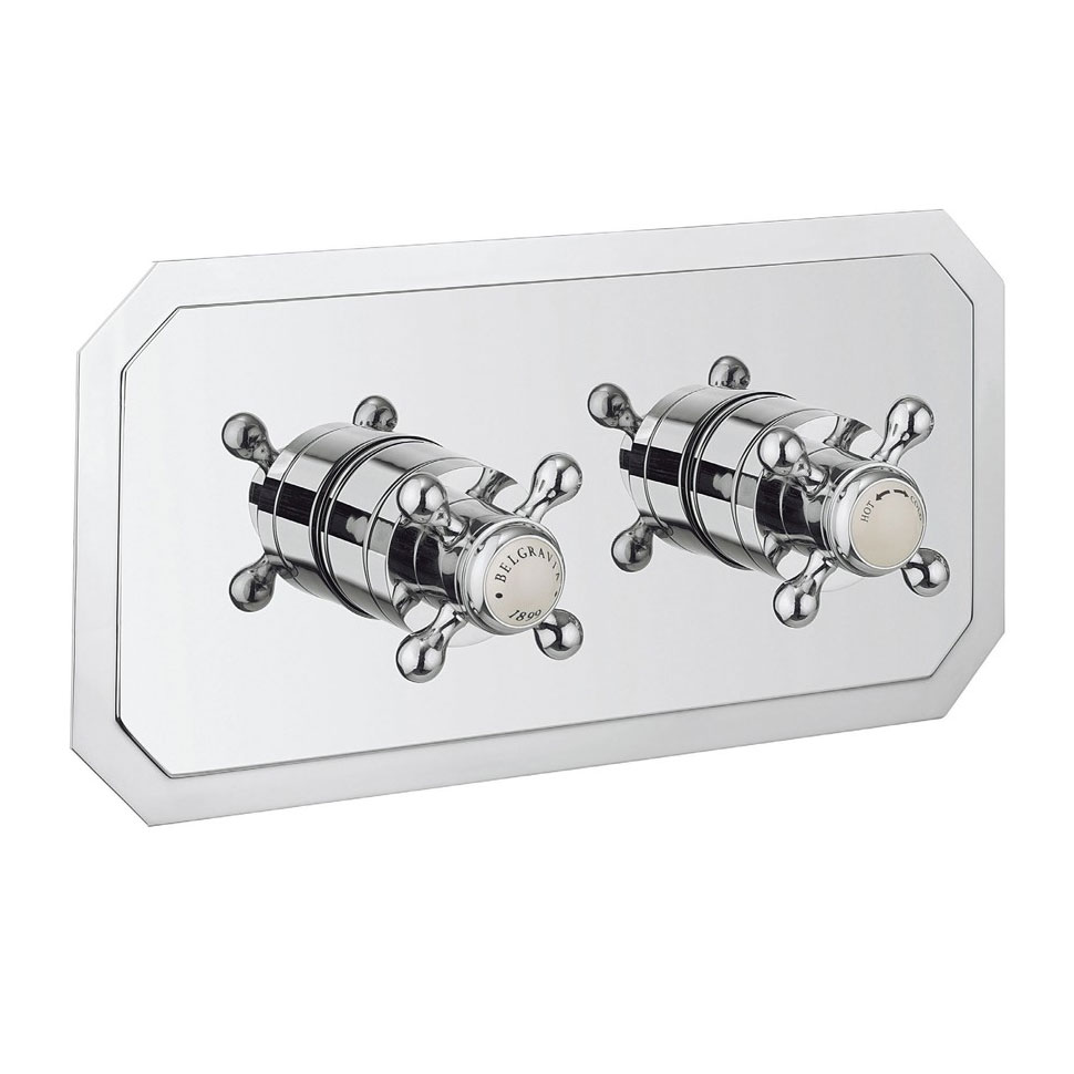 Crosswater - Belgravia Crosshead Thermostatic Shower Valve with 2 Way Diverter - Landscape Large Image