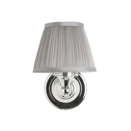 Burlington Round Light with Chrome Base and Chiffon Silver Shade - BL15