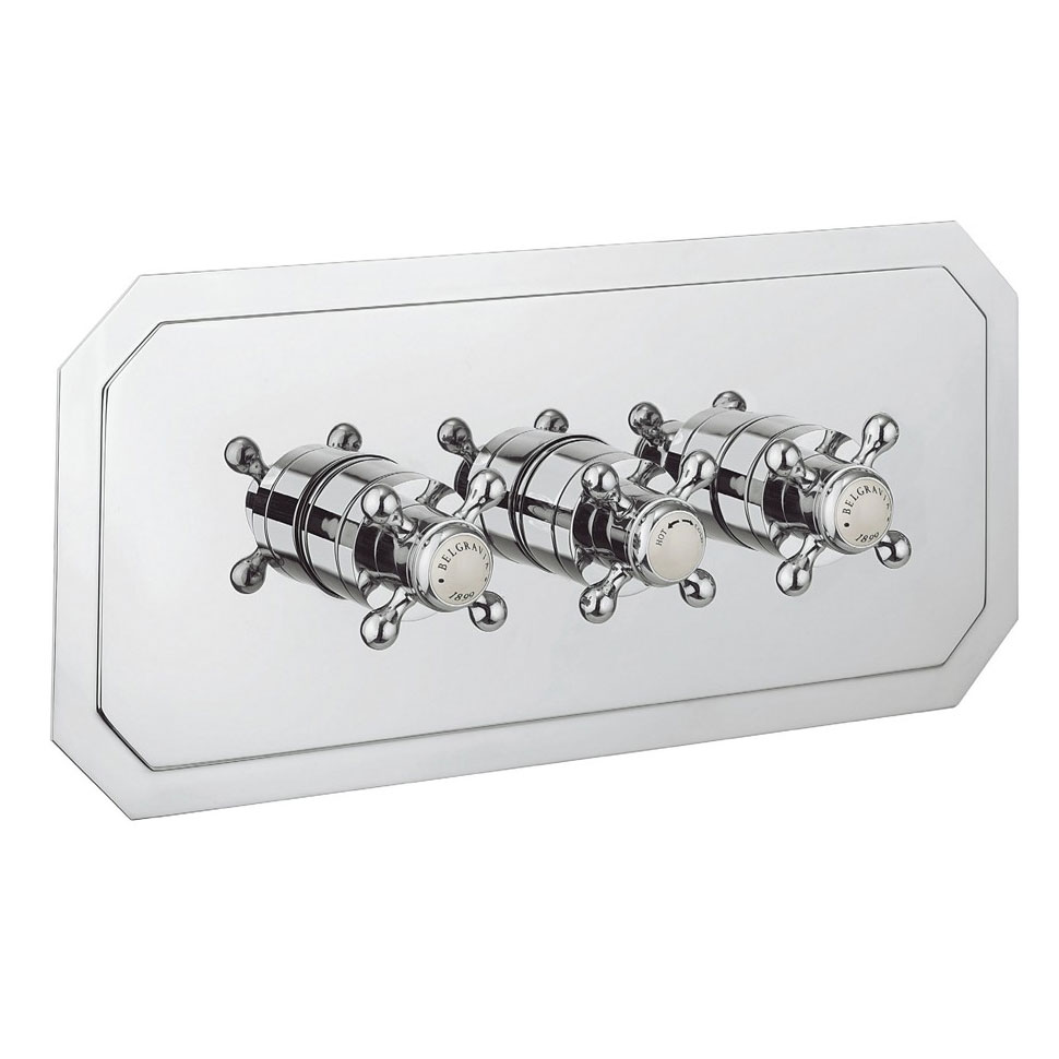 Crosswater - Belgravia Crosshead Triple Thermostatic Shower Valve with 3 Way Diverter - Landscape Large Image