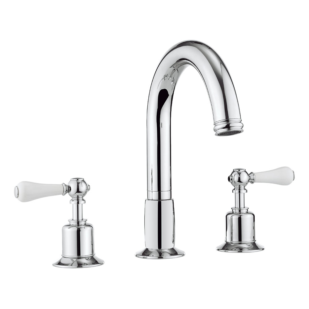 Crosswater - Belgravia Lever 3 Tap Hole Bath Mixer - BL330DC_LV Large Image