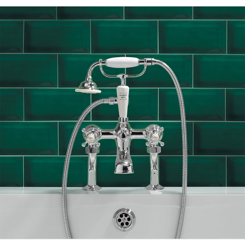Crosswater - Belgravia Crosshead Bath Shower Mixer with Kit - BL422DC profile large image view 2