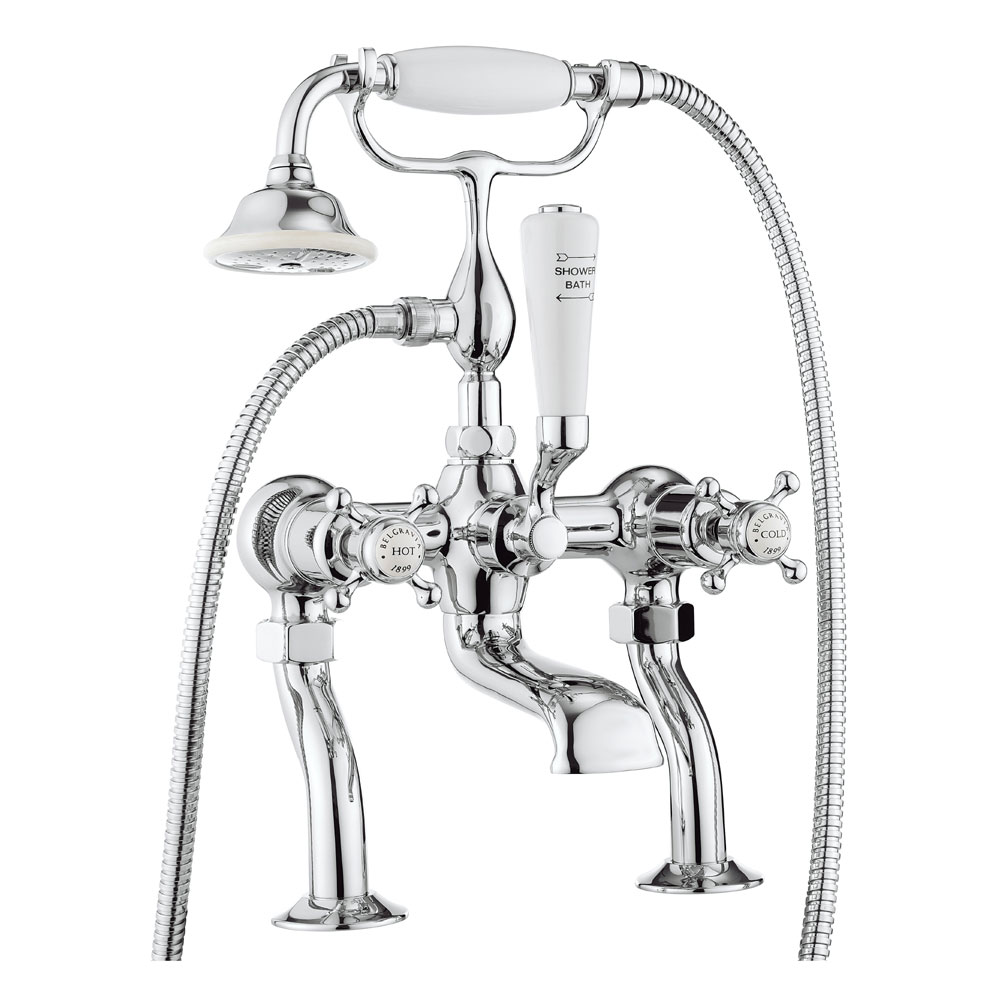 Crosswater - Belgravia Crosshead Bath Shower Mixer with Kit - BL422DC profile large image view 1