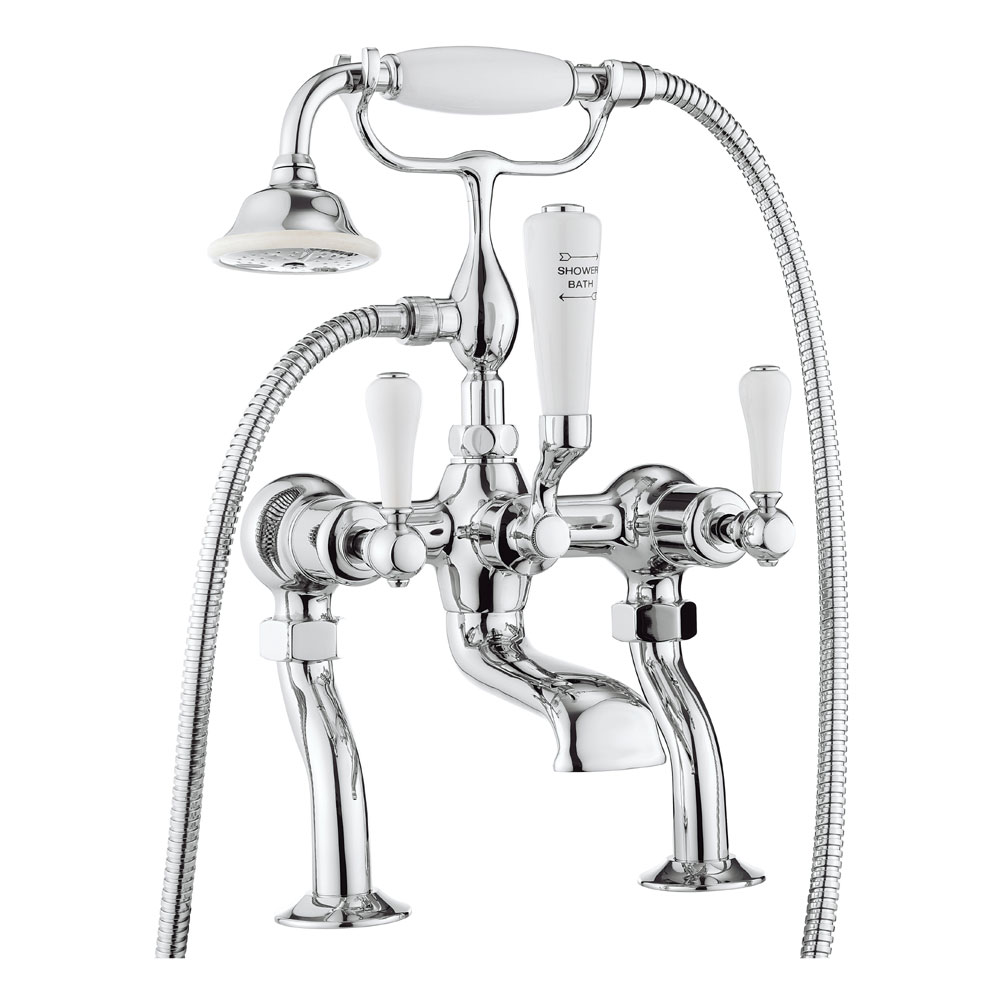 Crosswater - Belgravia Lever Bath Shower Mixer with Kit - BL422DC_LV Large Image