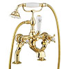 Crosswater Belgravia Unlacquered Brass Crosshead Bath Shower Mixer with Kit - BL422DQ profile small image view 1