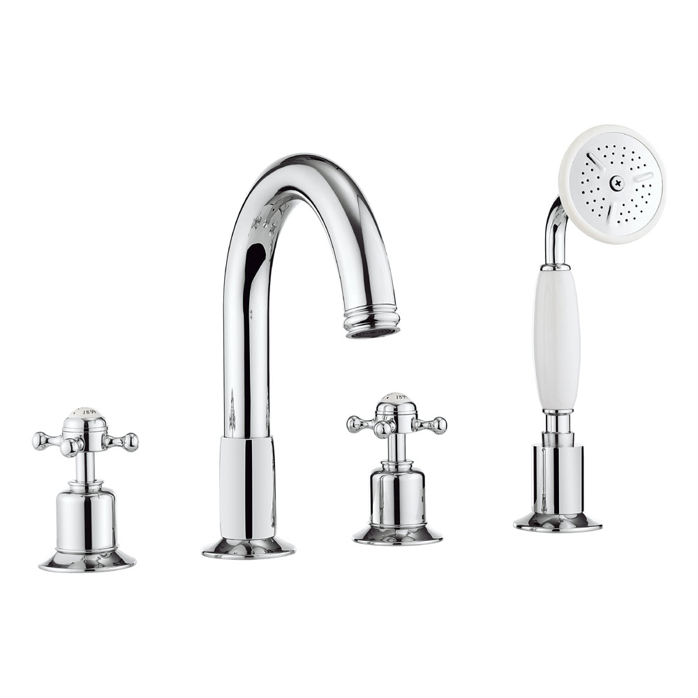 Crosswater - Belgravia Crosshead 4 Tap Hole Bath Shower Mixer with Kit - BL440DC profile large image view 1