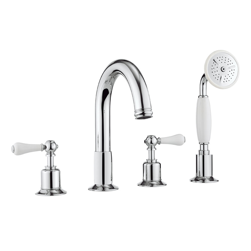 Crosswater - Belgravia Lever 4 Tap Hole Bath Shower Mixer with Kit - BL440DC_LV Large Image
