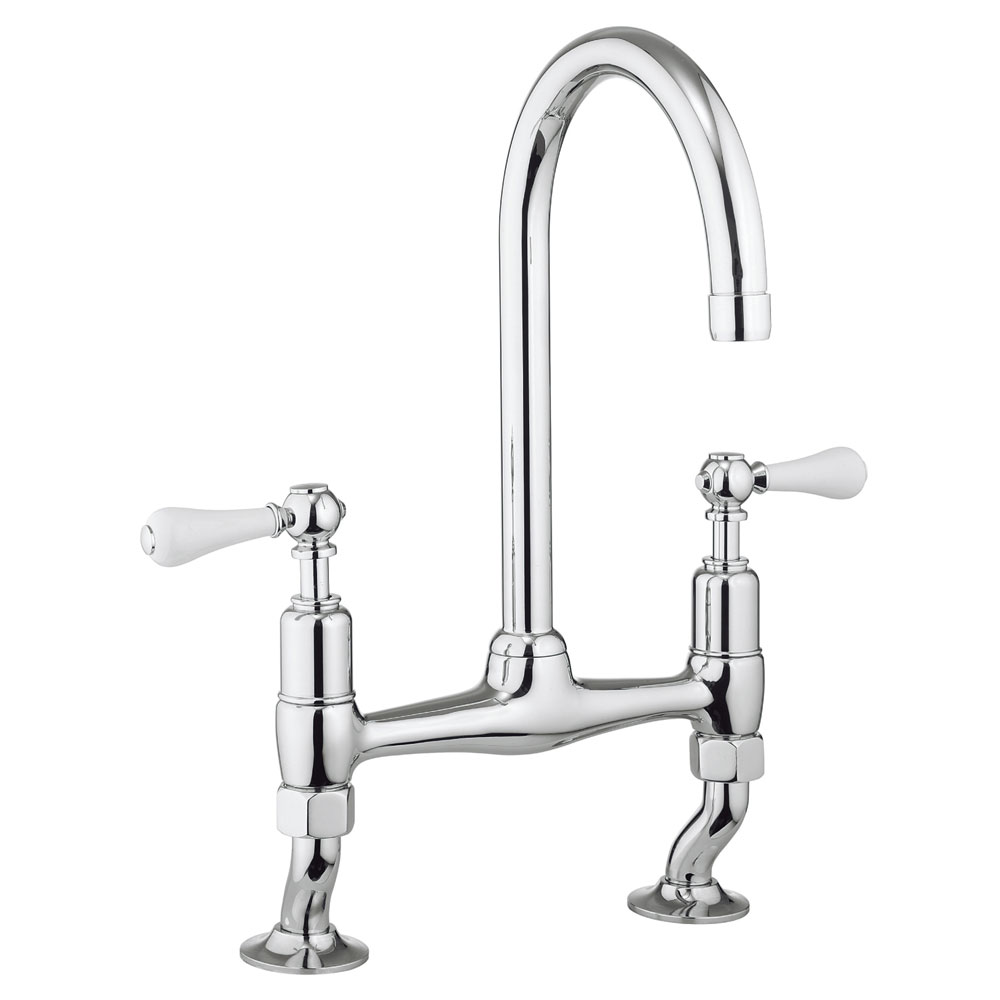 Crosswater - Cucina Belgravia Lever Dual Lever Kitchen Mixer - Chrome - BL710DC_LV profile large image view 1