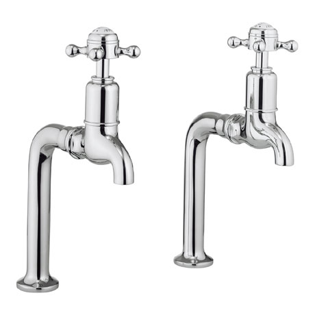 Crosswater - Cucina Belgravia Crosshead Pair of Bib Taps - Chrome - BL726DC