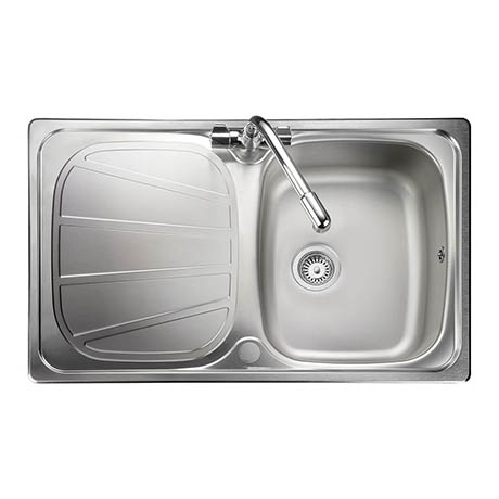 Rangemaster Baltimore Compact 1.0 Bowl Stainless Steel Kitchen Sink