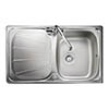Rangemaster Baltimore Compact 1.0 Bowl Stainless Steel Kitchen Sink profile small image view 1