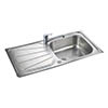 Rangemaster Baltimore 1.0 Bowl Stainless Steel Kitchen Sink profile small image view 1