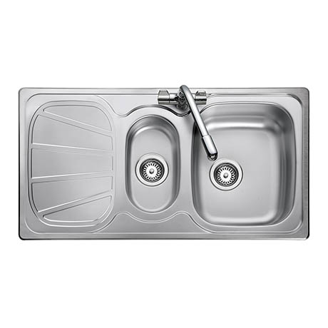 Rangemaster Baltimore 1.5 Bowl Stainless Steel Kitchen Sink