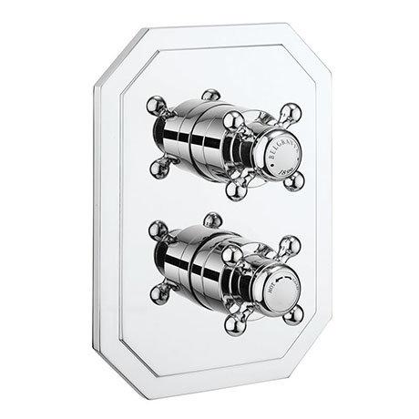 Crosswater Belgravia Chrome Crossbox 2 Outlet Multi-flow Trim Set