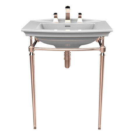 Heritage Abingdon Blenheim Basin & Washstand - Rose Gold