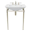 Heritage Abingdon Blenheim Basin & Washstand - Vintage Gold profile small image view 1