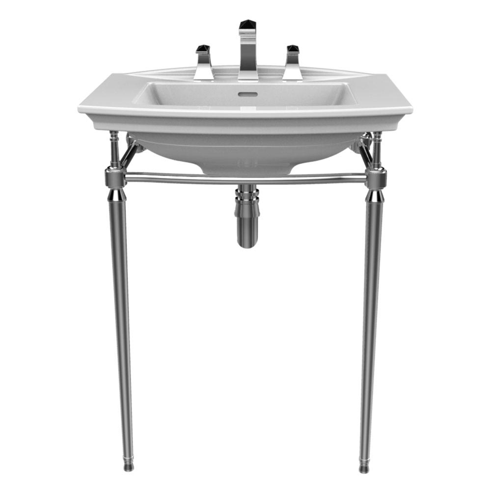 Heritage Abingdon Blenheim Basin & Washstand - Chrome Large Image