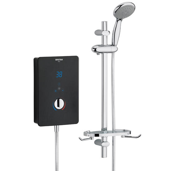 Bristan - Bliss Electric Shower - Black - Available in 8.5, 9.5 or 10.5KW Large Image