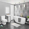 Bliss Modern Slipper Freestanding Bath Suite - 2 Basin Size Options profile small image view 1