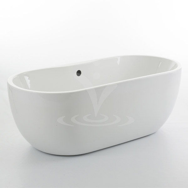 Bliss Modern Double Ended Curved Freestanding Bath Suite - 2 Basin Size Options Profile Large Image