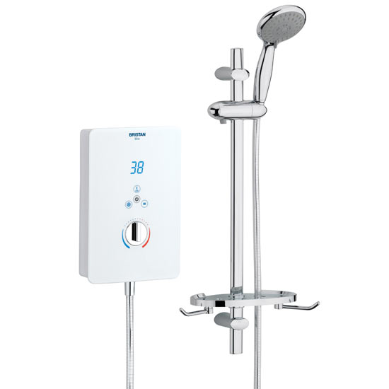 Bristan - Bliss Electric Shower - White - Available in 8.5, 9.5 or 10.5KW Large Image