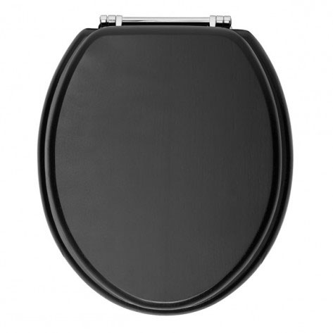 Heritage - Standard Toilet Seat with Chrome Hinges - Various Colour Options profile large image view 1
