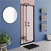 Turin Matt Black 1000 x 1850 Bi-Fold Shower Door profile small image view 1