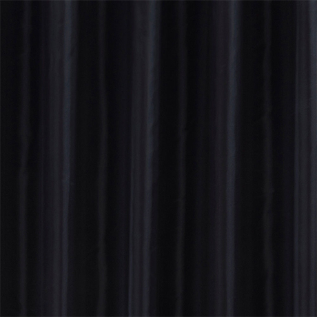 Black W1800 x H1800mm Polyester Shower Curtain