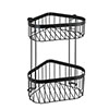 Black 2-Tier Corner Wire Shower Basket profile small image view 1