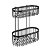 Black 2-Tier Wire Shower Basket profile small image view 1