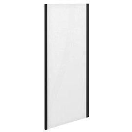 Turin Matt Black 700 x 1850 Side Panel