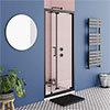 Turin Matt Black 900 x 1850 Bi-Fold Shower Door profile small image view 1