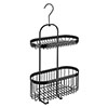 Black 2-Tier Hanging Shower Caddy profile small image view 1